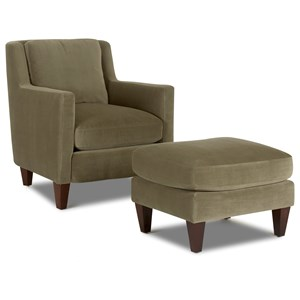 Trisha Yearwood Home Collection by Klaussner Valley Forge Chair & Ottoman