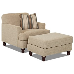 Trisha Yearwood Home Collection by Klaussner Yukon Chair & Ottoman Set