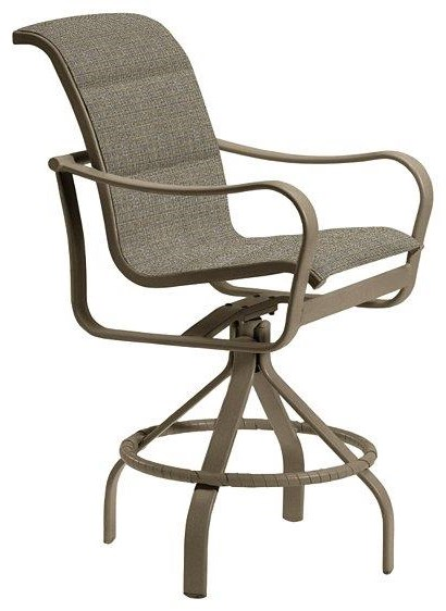 Bar groups Padded Sling Swivel Counter Height Stool by Tropitone at Johnny Janosik
