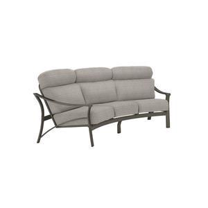 Crescent Sofa W/2 Throw Pillows
