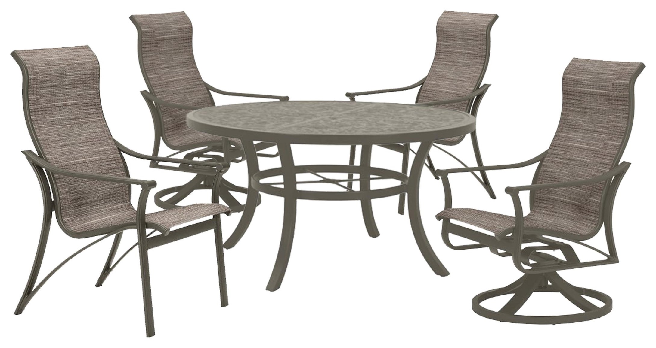 Corsica Outdoor Table, Rocker, and Chair by Tropitone at Johnny Janosik