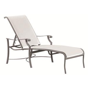 Montreux Outdoor Chaise Lounge with Adjustable Headrest and Scroll Arms by Tropitone