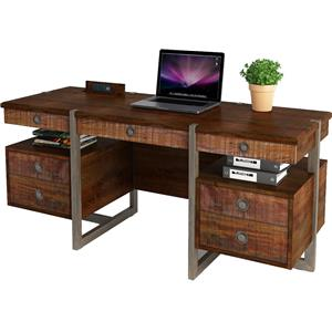 Turnkey Products Austere Antiques Credenza Desk