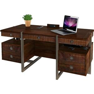 Turnkey Products Austere Antiques Executive Desk