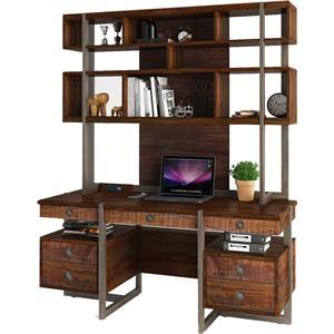 Turnkey Products Austere Antiques Desk and Hutch