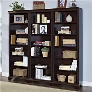 "Turnkey Products Belcourt 72"" Tall  Bookcase Wall With 3 Bookcases"