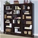 """Turnkey Products Belcourt 72"""" Tall  Bookcase Wall With 3 Bookcases - Item Number: ER-BLC-K-OBK72X3-D"""