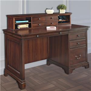"Turnkey Products Belcourt 54"" Single Pedestal Desk & Hutch"