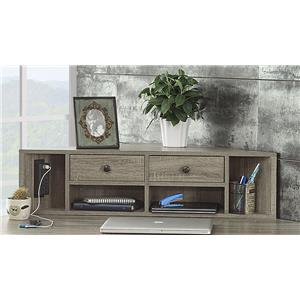 Turnkey Products Durham Hutch For Corner Desk