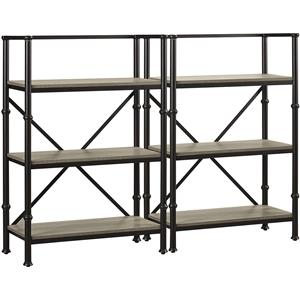 "Turnkey Products Durham Two 44"" Bookcase Wall"