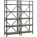 "Turnkey Products Durham Two 72"" Bookcase Wall - Item Number: LB-DUR-K-BS72X2"