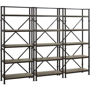 "Turnkey Products Durham Three 72"" Bookcase Wall"