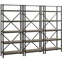"Turnkey Products Durham Three 72"" Bookcase Wall - Item Number: LB-DUR-K-BS72X3"