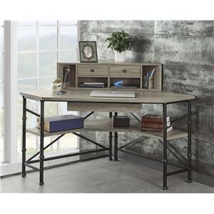 Turnkey Products Durham Corner Desk With Hutch
