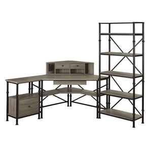 Turnkey Products Durham 4 Piece Office Group with Corner Desk