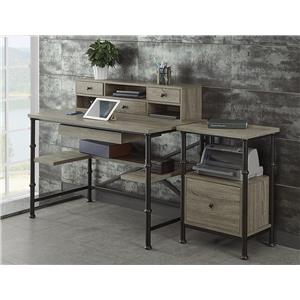 Turnkey Products Durham 3 Piece Office Group with Writing Desk
