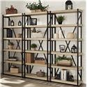 "Turnkey Products Emery 72"" Tall Bookcase Wall With 3 Bookcases - Item Number: ER-EME-K-OBK72X3-S"