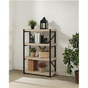 Turnkey Products Emery Bookcase with 4 Shelves