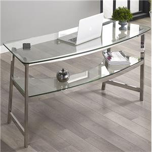 "Turnkey Products Geo 62"" Glass Writing Desk"