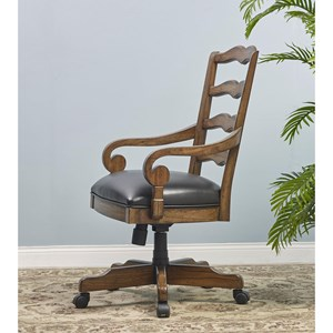 Turnkey Products Provincial Homestead Office Arm Chair