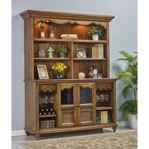 Turnkey Products Provincial Homestead Storage Credenza and Hutch