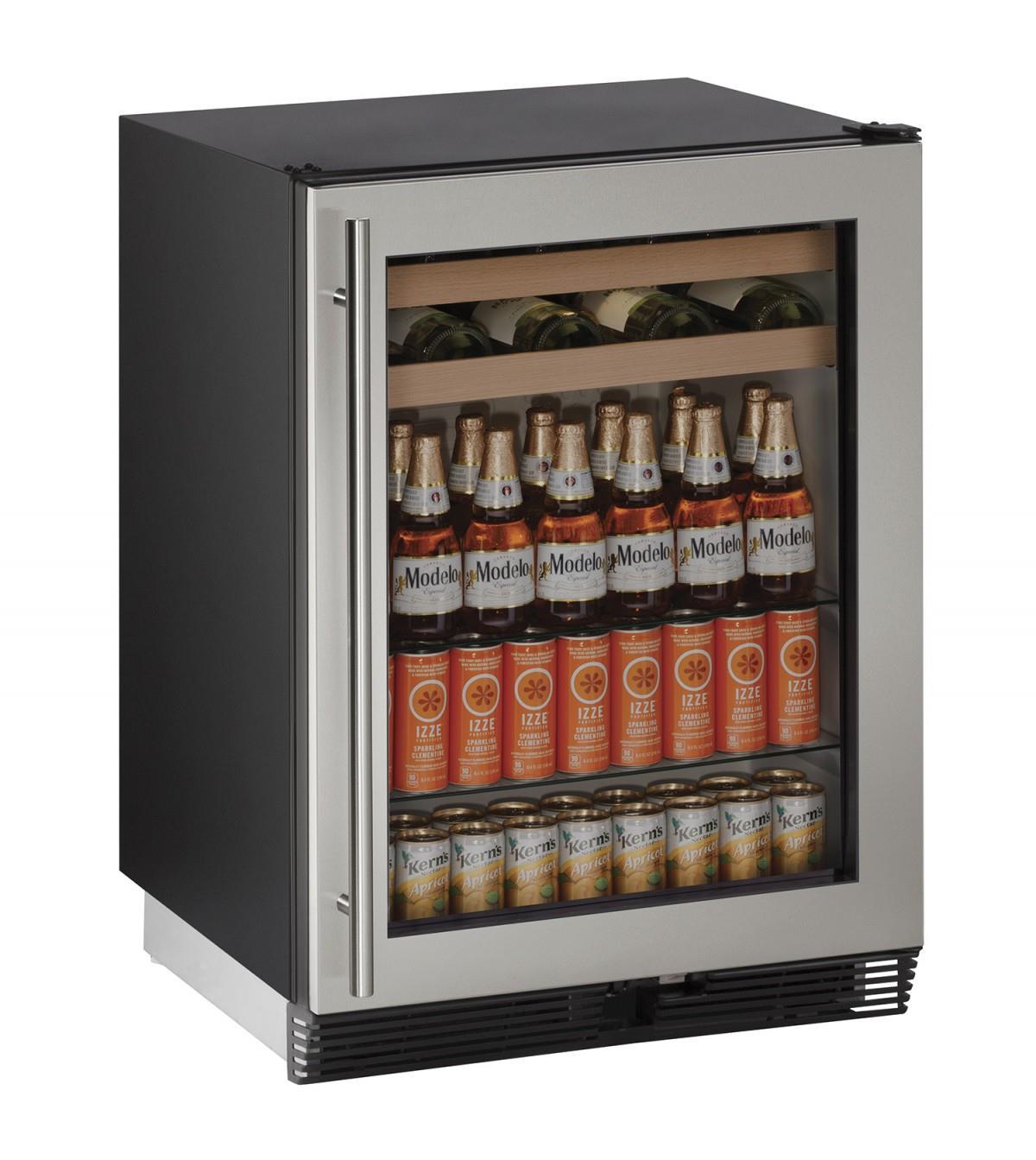 """U-Line Beverage Centers 5.4 cu ft. 1000 Series 24"""" Beverage Center - Item Number: U-1024BEVS-00A"""