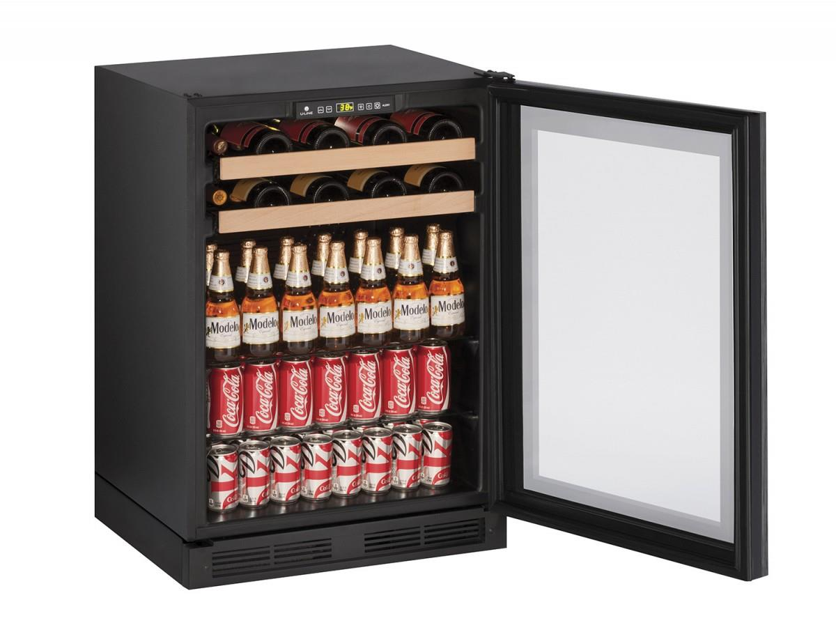 """U-Line Beverage Centers 5.4 cu ft. 1000 Series 24"""" Beverage Center - Item Number: U-1224BEVINT-00A"""