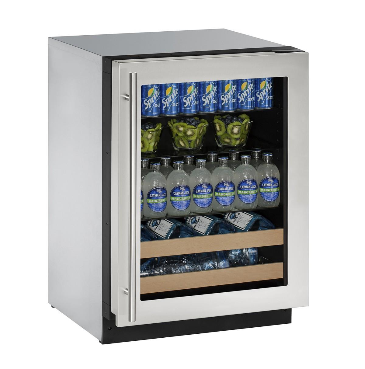 "U-Line Beverage Centers 4.9 cu ft. 2000 Series 24"" Beverage Center - Item Number: U-2224BEVS-15A"