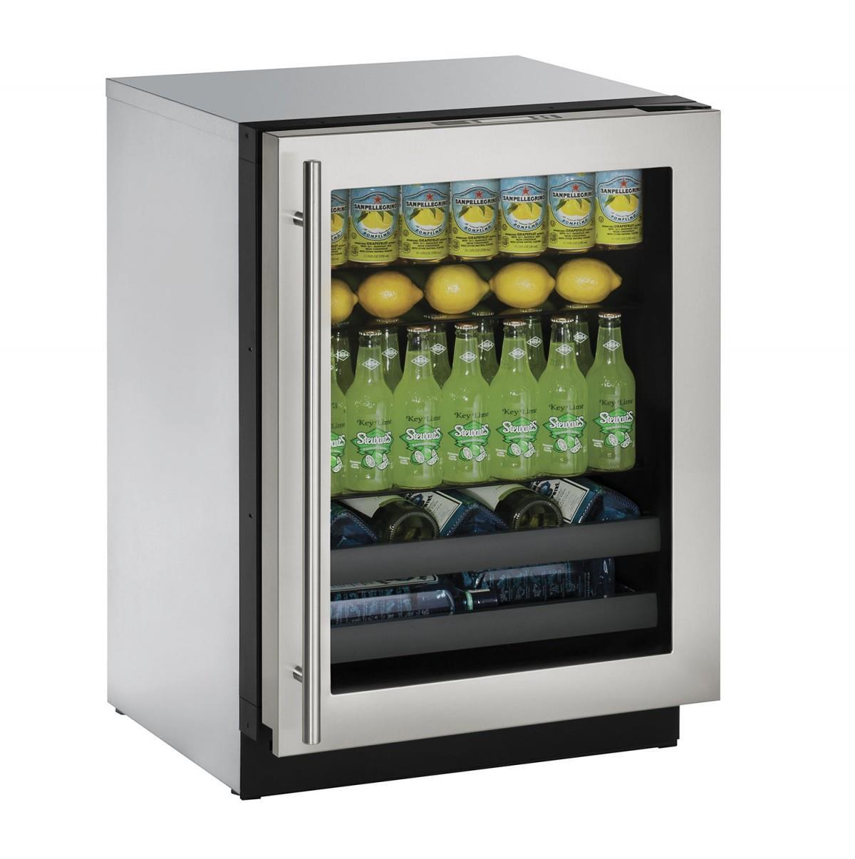 """U-Line Beverage Centers 4.9 cu ft. 3000 Series 24"""" Beverage Center - Item Number: U-3024BEVS-15A"""