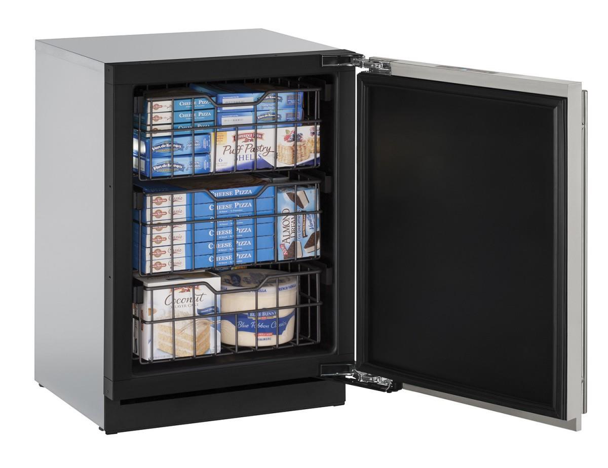 U-Line Freezers 4.5 Cu. Ft. Right Hinged Built-In Freezer - Item Number: U-3024FZRS-00A