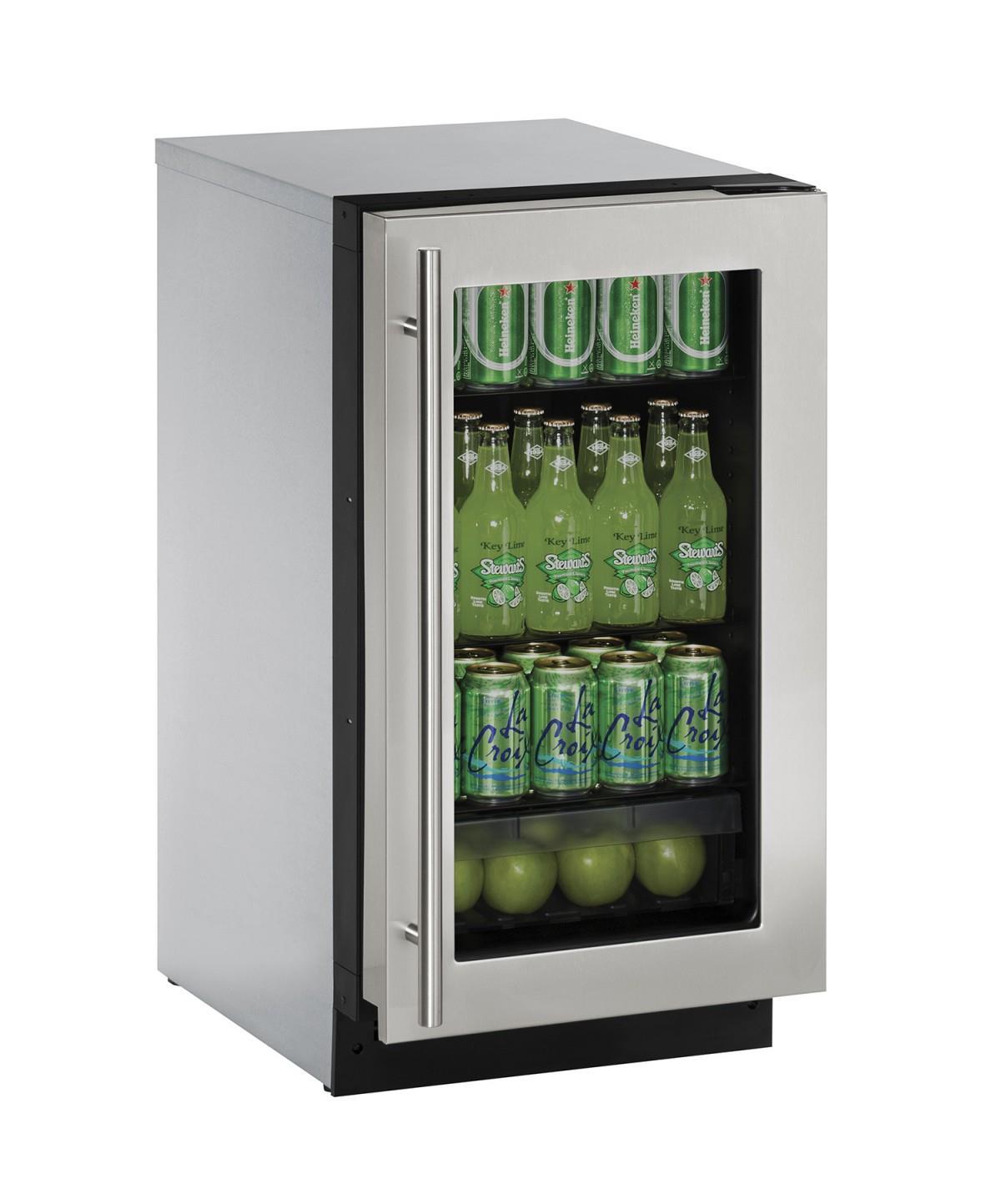 "U-Line Refrigerators 3.6 Cu. Ft. 18"" Compact All-Refrigerator - Item Number: U-2218RGLS-01A"