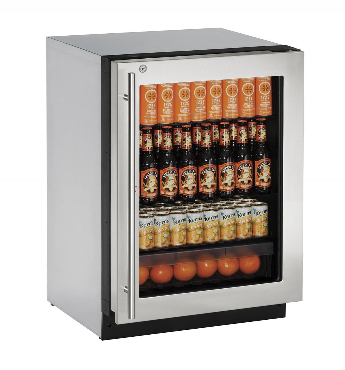 U-Line Refrigerators 4.9 cu. ft. Built-in Compact Refrigerator - Item Number: U-2224RGLS-15A