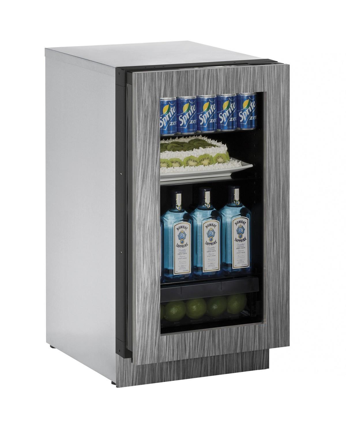"U-Line Refrigerators 18"" Glass Door Compact Refrigerator - Item Number: U-3018RGLINT-00A"