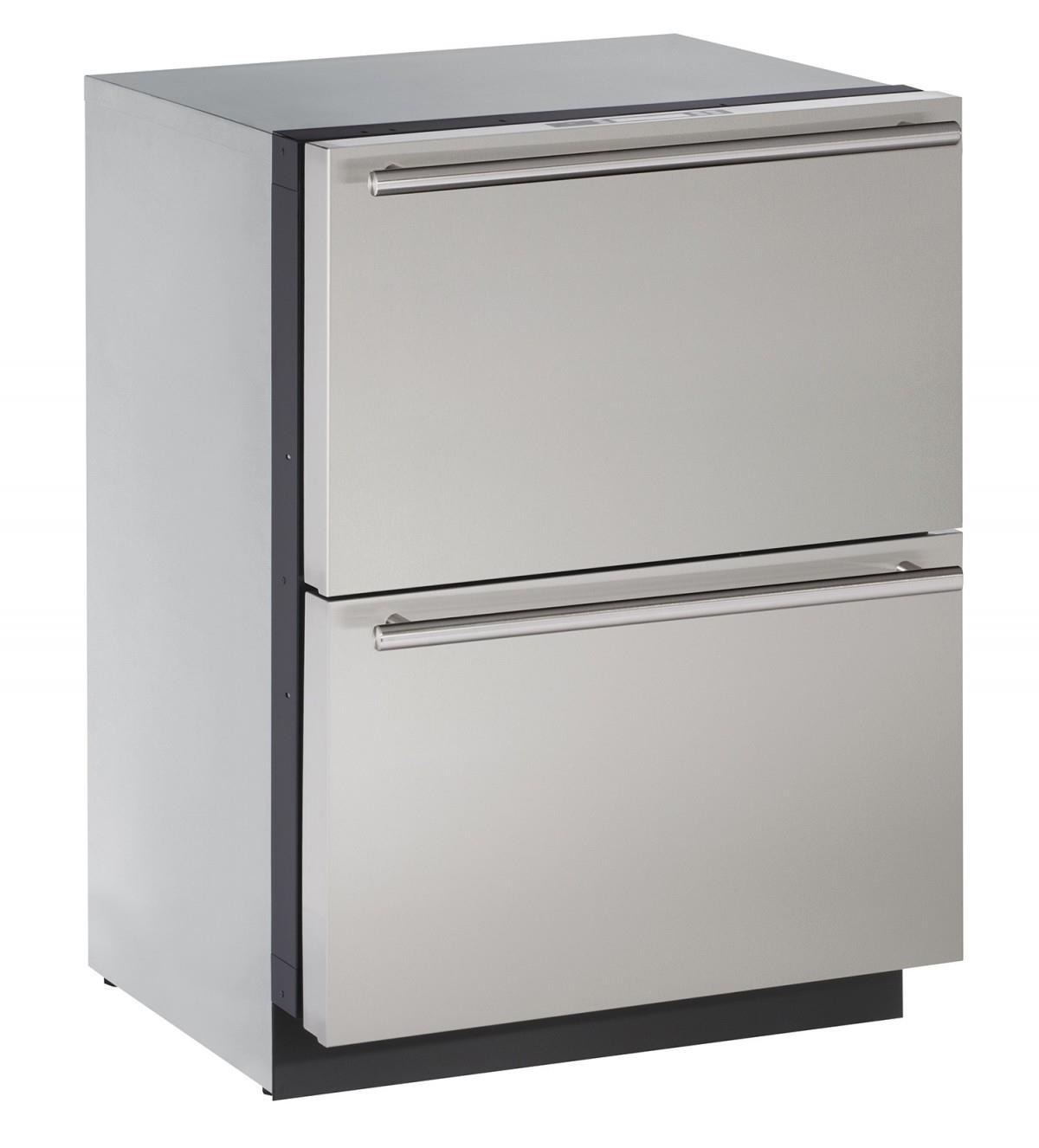 U-Line Refrigerators 4.5 cu. ft. Built-in Two Drawer Refrigerator - Item Number: U-3024DWRS-00A