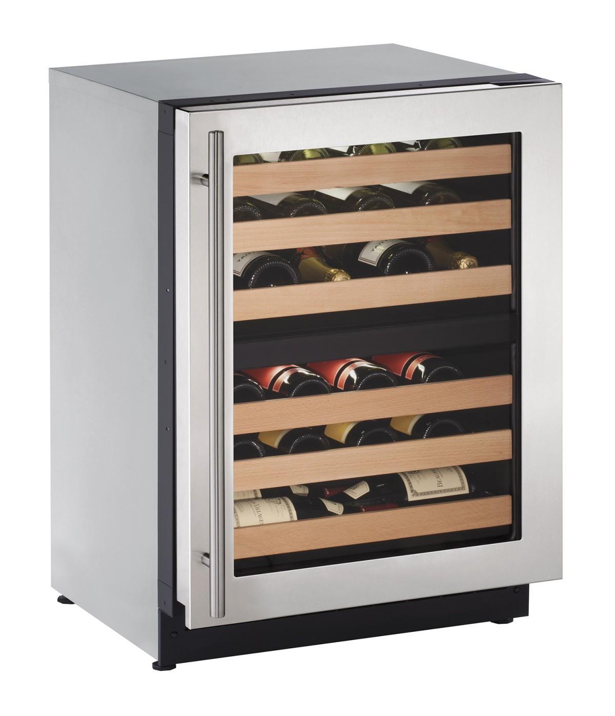 "U-Line Wine Captains 4.7 Cu. Ft. 24"" Built-in Wine Storage - Item Number: U-2224ZWCS-15A"