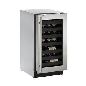 "U-Line Wine Captains - 2014 3.6 Cu. Ft. 18"" Built-In Wine Storage"