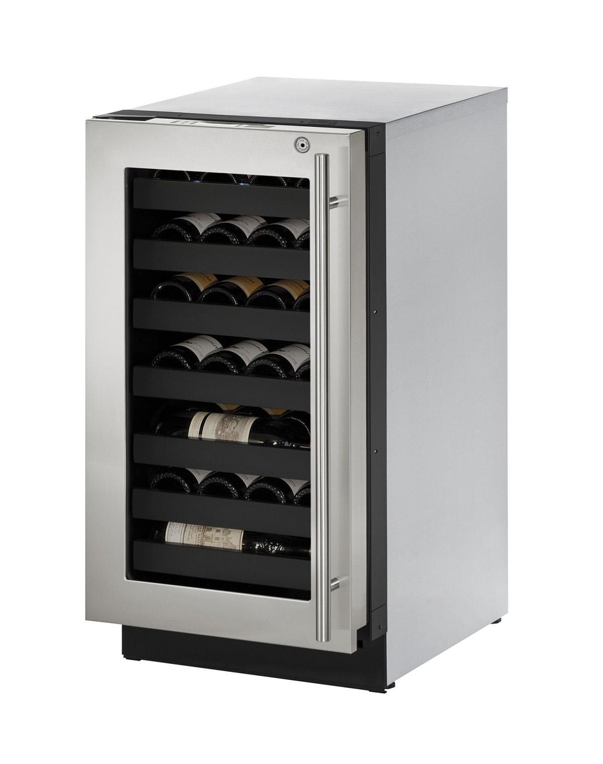 "U-Line Wine Captains 3.6 Cu. Ft. 18"" Built-In Wine Storage - Item Number: U-3018WCS-15A"