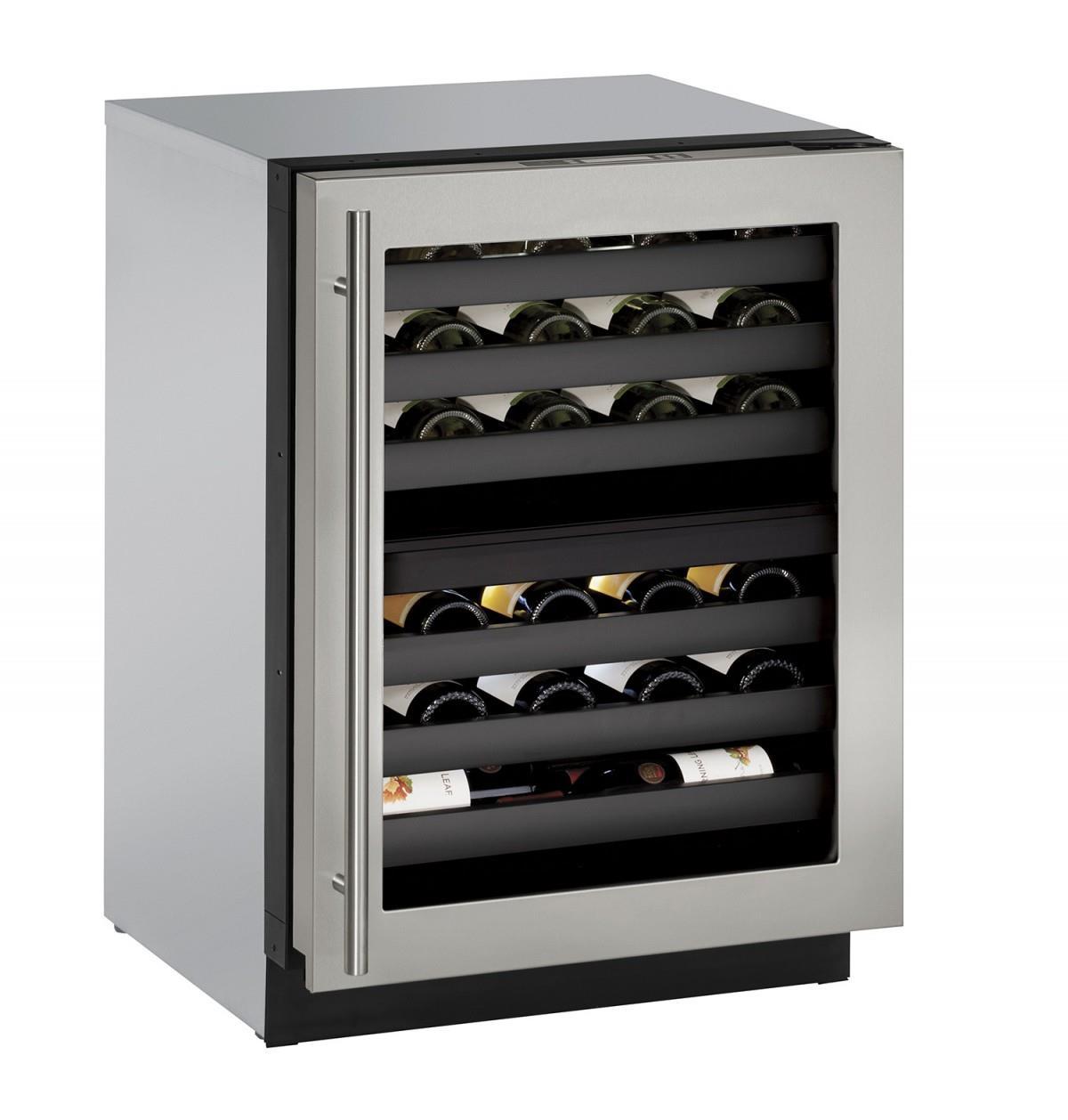 "U-Line Wine Captains 4.7 Cu. Ft. 24"" Built-In Wine Storage - Item Number: U-3024ZWCS-00A"