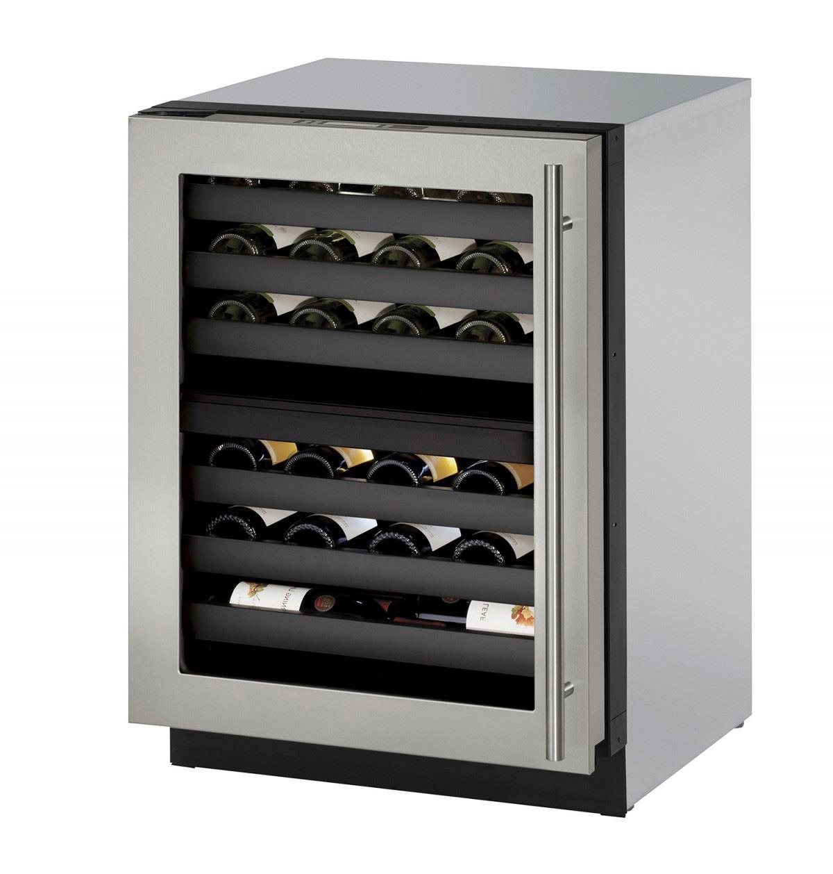 "U-Line Wine Captains 4.7 Cu. Ft. 24"" Built-In Wine Storage - Item Number: U-3024ZWCS-15A"