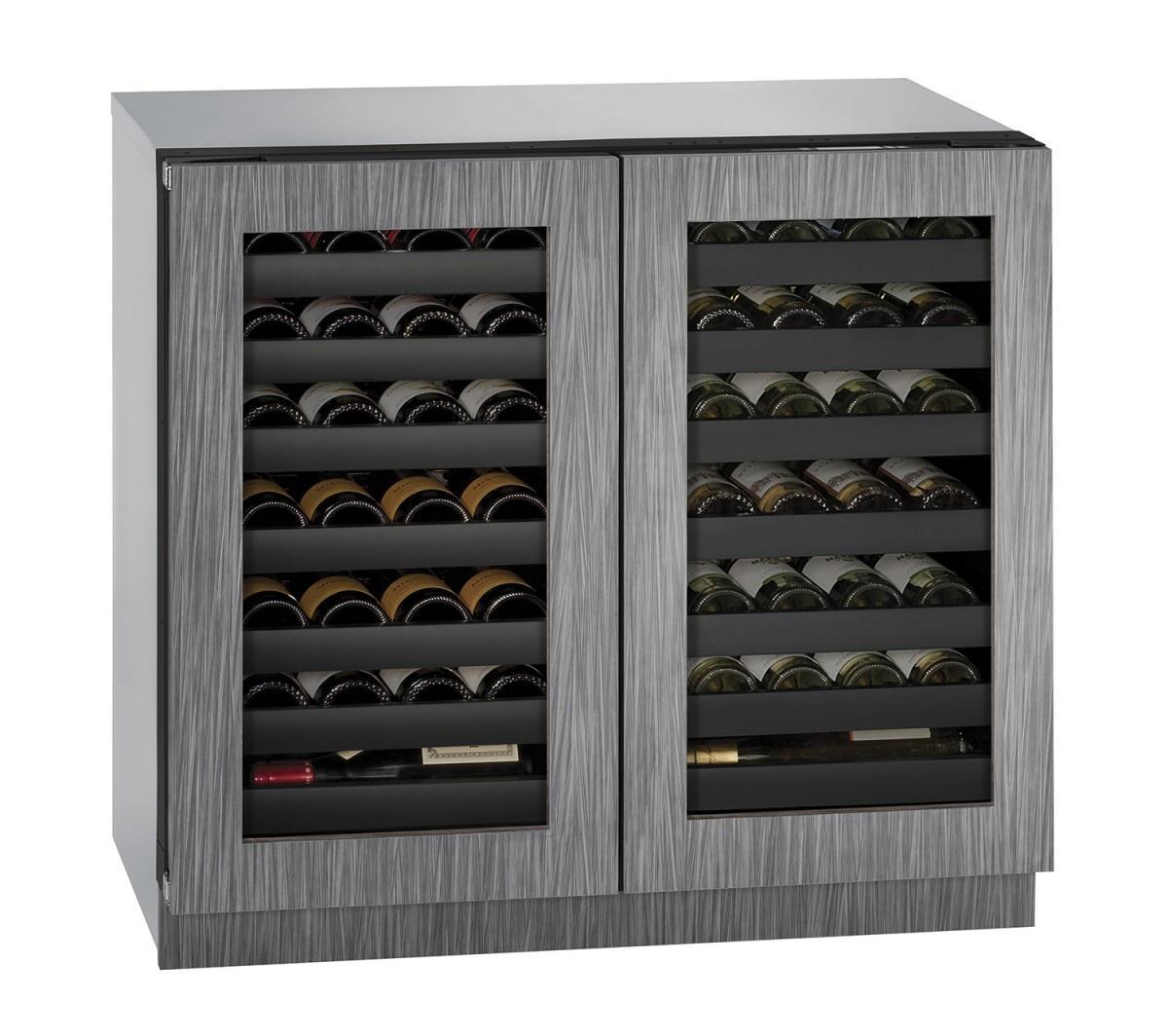 """U-Line Wine Captains 36"""" Built-In Double Door Wine Storage - Item Number: U-3036WCWCINT-00A"""