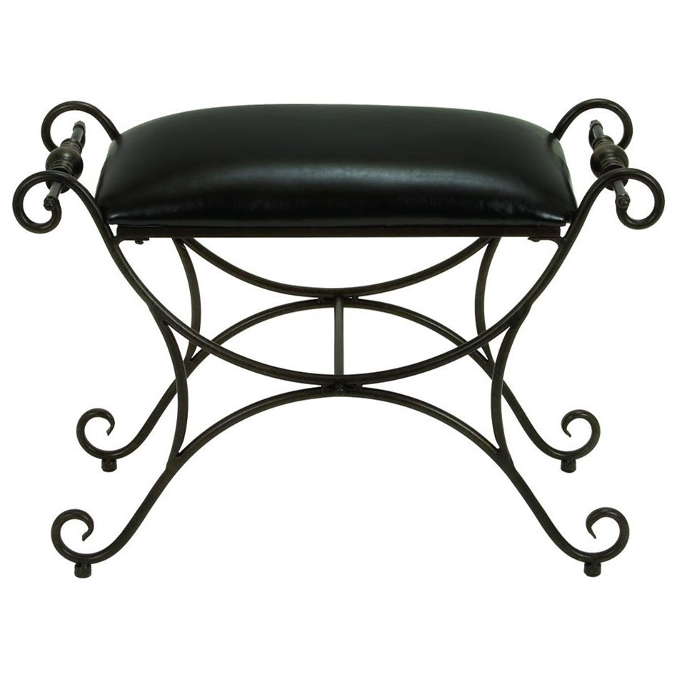 Metal/Faux Leather Stool