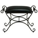 UMA Enterprises, Inc. Accent Furniture Metal/Faux Leather Stool - Item Number: 13877