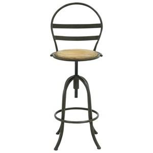 UMA Enterprises, Inc. Accent Furniture Metal/Wood Bar Chair