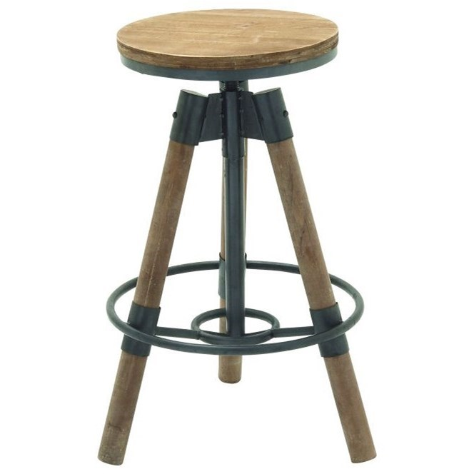 Metal/Wood Bar Stool