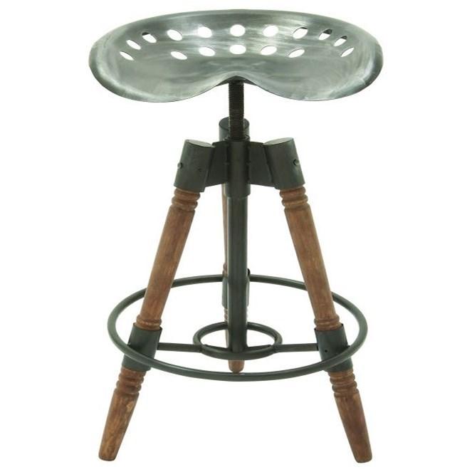 Accent Furniture Metal/Wood Bar Stool by UMA Enterprises, Inc. at Wilcox Furniture