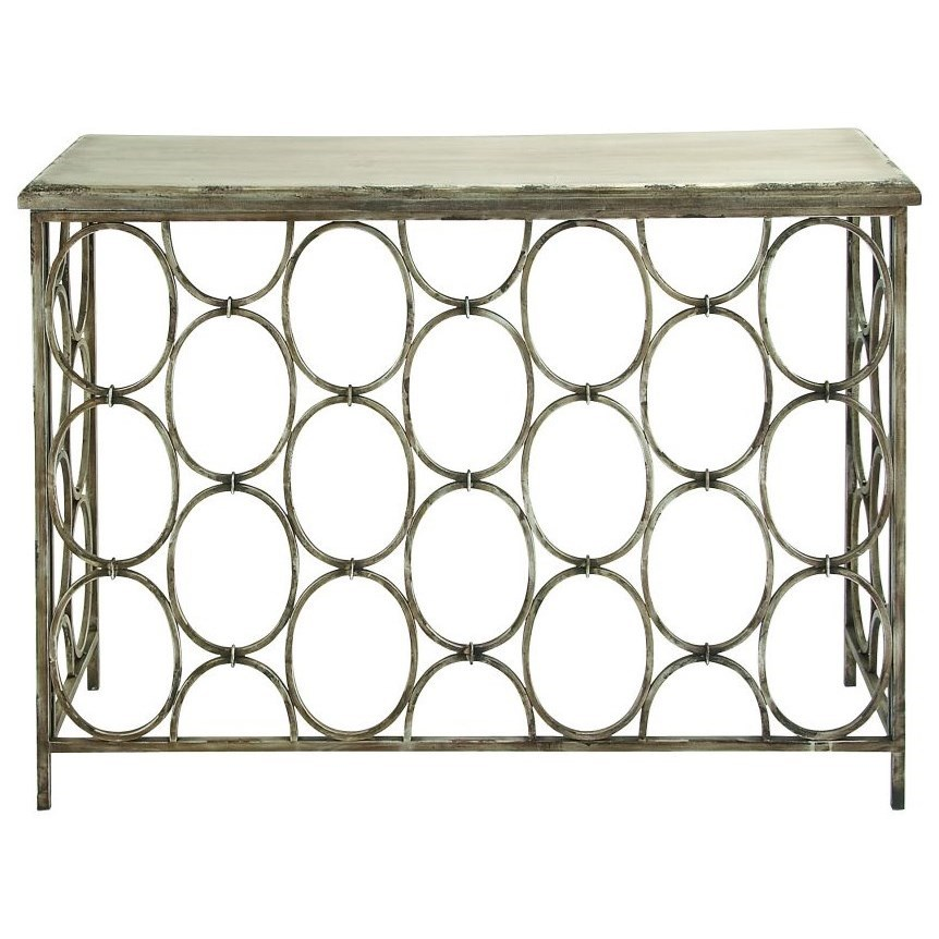 Accent Furniture Metal/Wood Console Table by UMA Enterprises, Inc. at Wilcox Furniture