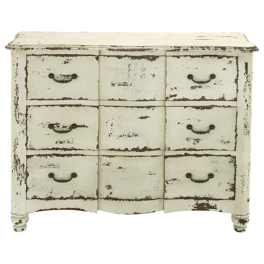 Accent Furniture Antique White Chest by UMA Enterprises, Inc. at Wilcox Furniture