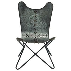 UMA Enterprises, Inc. Accent Furniture Metal Stitched Chair