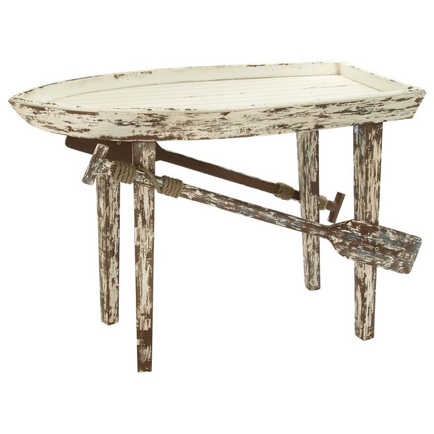 Accent Furniture Wood Boat Table by UMA Enterprises, Inc. at Wilcox Furniture
