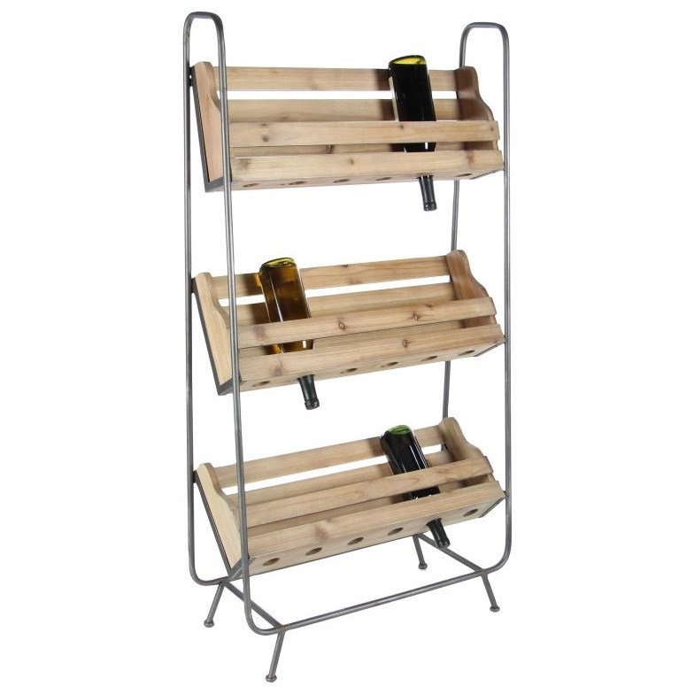 Accent Furniture Wood/Metal Wine Rack by UMA Enterprises, Inc. at Wilcox Furniture